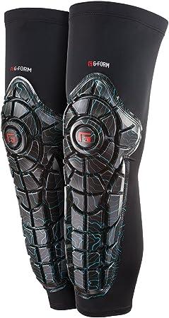 Color Negro L G Form Elite Knee Shin Combo Black//Topo 2018 Unisex Protector de Rodilla y espinillera