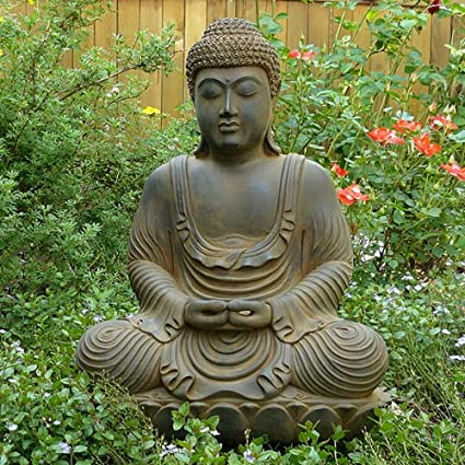 Meditating Garden Buddha Statue Cast In Resin | Ziji