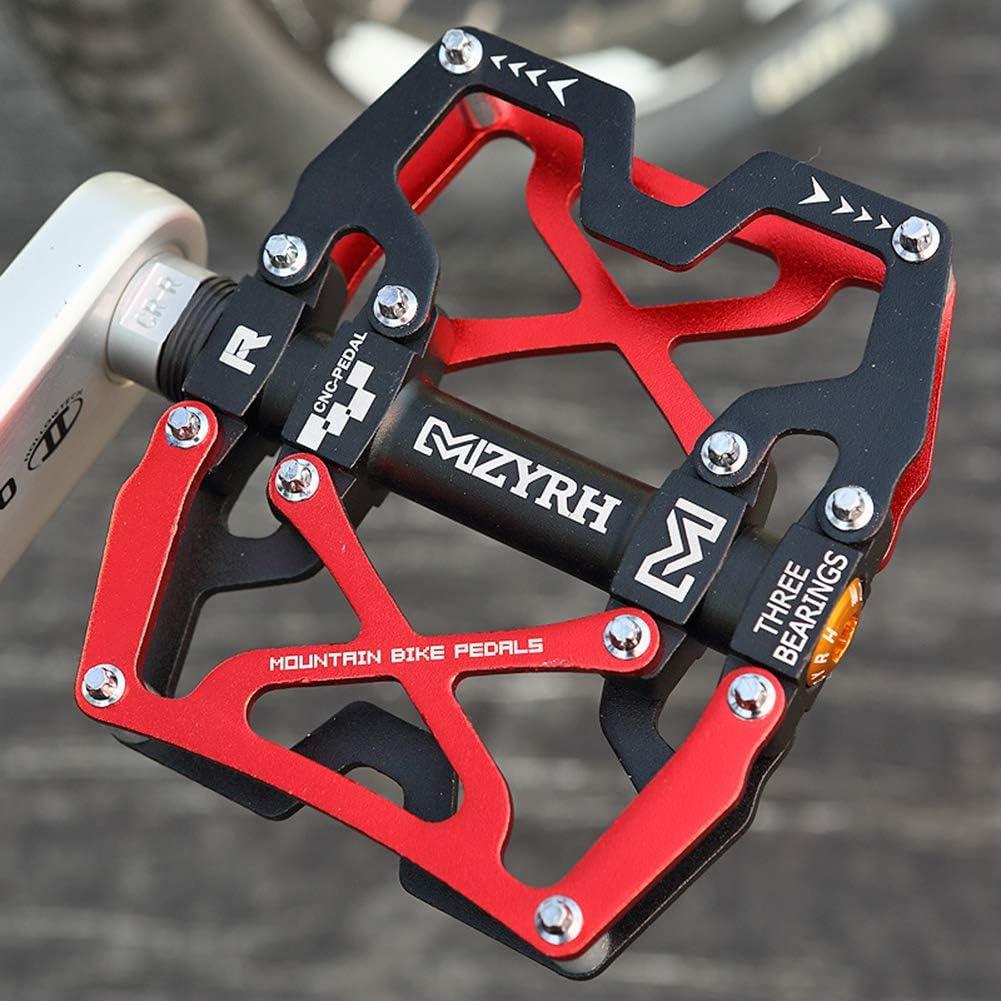 Accreate 1 Pair Bike Anti-Slip Aluminium Alloy Bearing Bicycle Pedal Strong Universal Bike Pedal