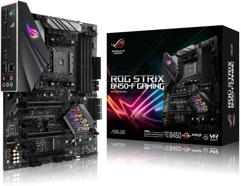 Asus ROG STRIX B450-F GAMING Scheda Madre da Gioco con Supporto DDR4 a 3200 MHz, SATA 6 Gbps, HDMI 2.0, Doppia NVMe M.2, USB 3.1, Nero