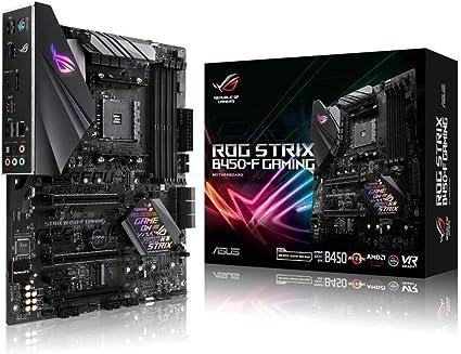 Asus Rog Strix B450 F Gaming Motherboard Socket Am4 Computers Accessories
