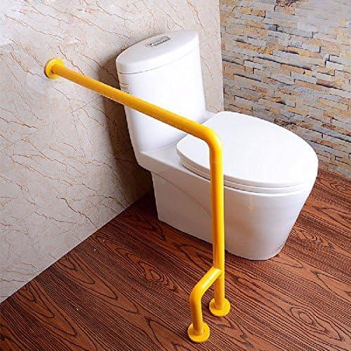 浴室用手すり 障害が起きなくなって手を手に入れたバスルームのトイレは便器の手すりに手すりになったステンレスの老人障害者の手すり,黄色