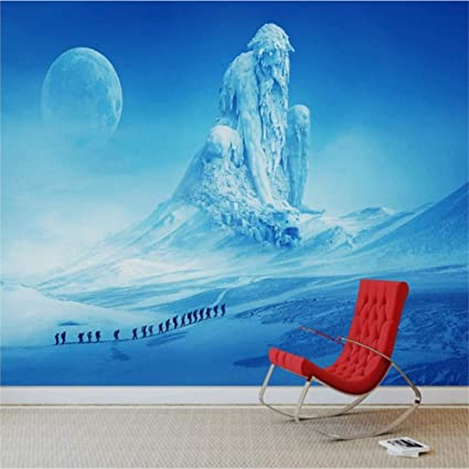 Amazon Com Xbwy Custom Mural Winter Snow Mountain Landscape Tv Sofa