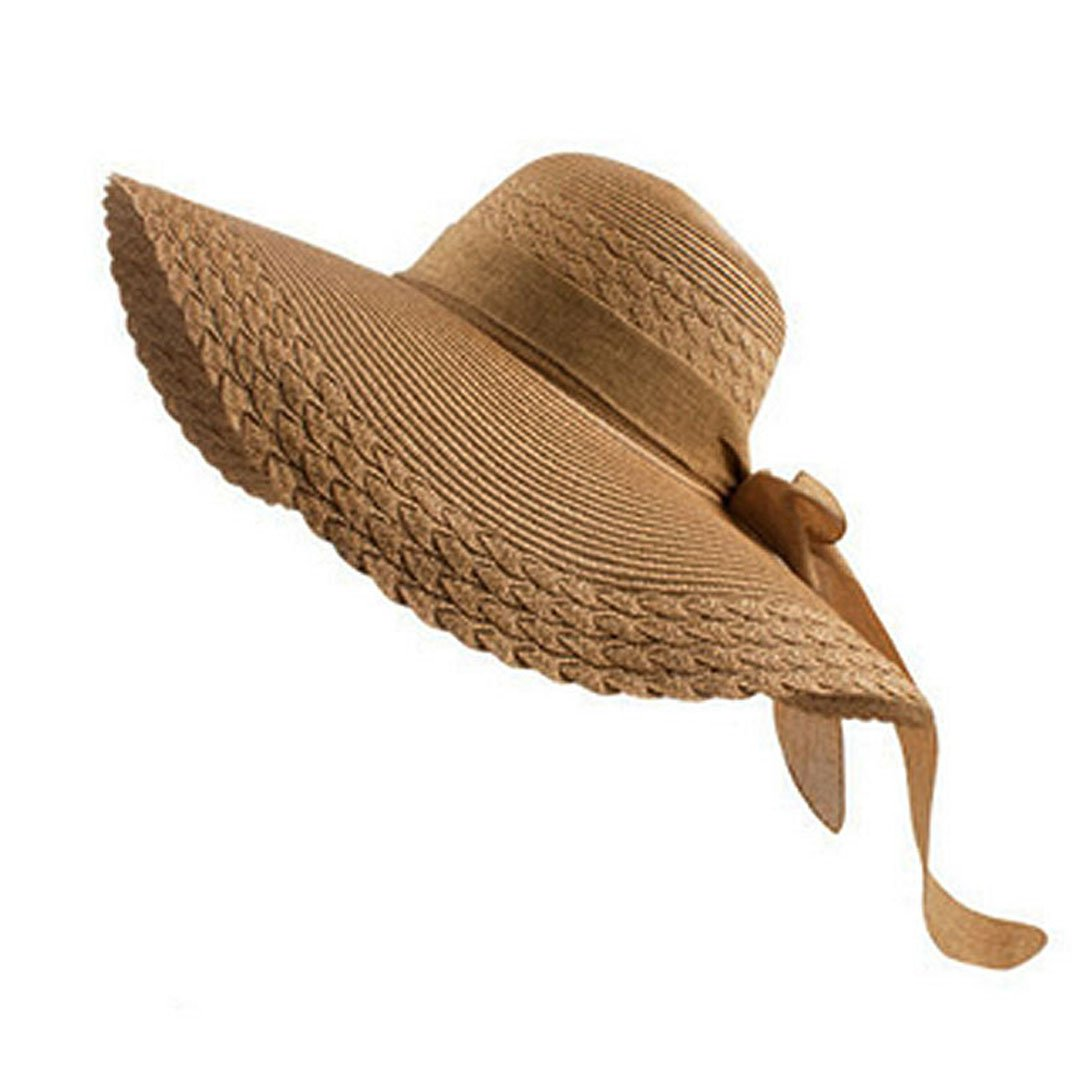 Ladies Summer Floppy Beach Hat Wide Brim Women Hat Fashion Designer 2018-2019