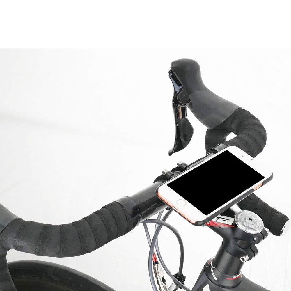 Universal Cell Phone Mount Adapter Stem Bar Clamp Cellphone Holder Quick Lock