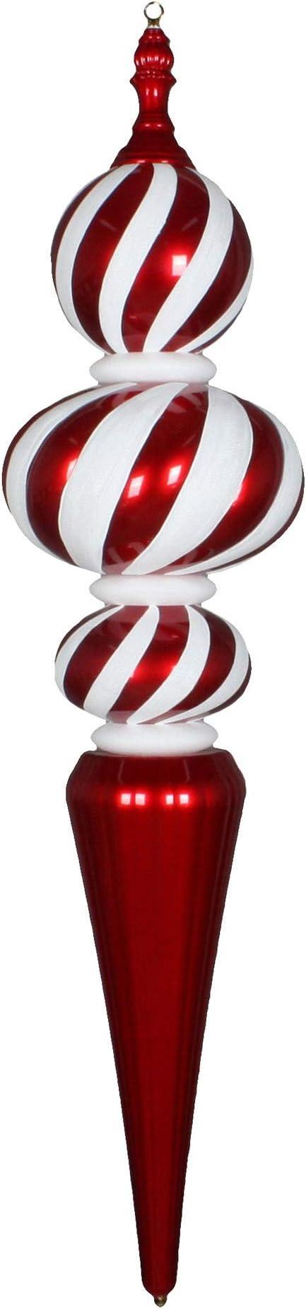 Vickerman Finial Ornament 51 Red White Home Kitchen