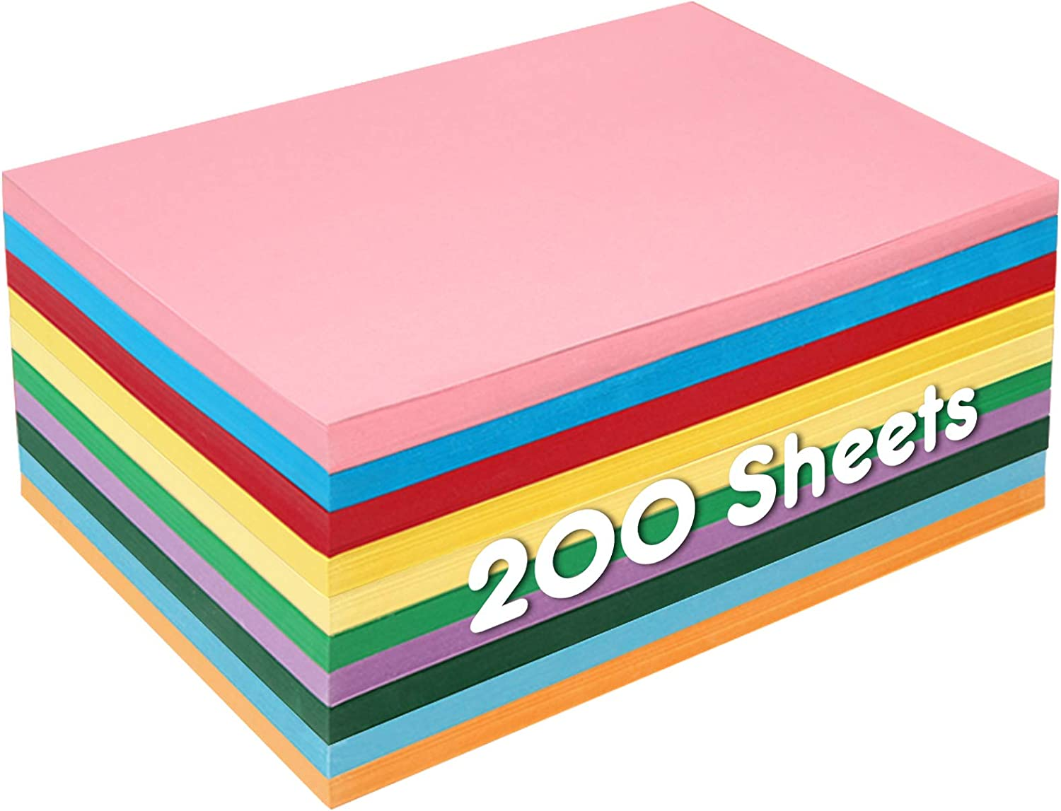 Kids Fun Craft Activities 80 Sheets Bright Tissue Paper Multi 10 Colours A4