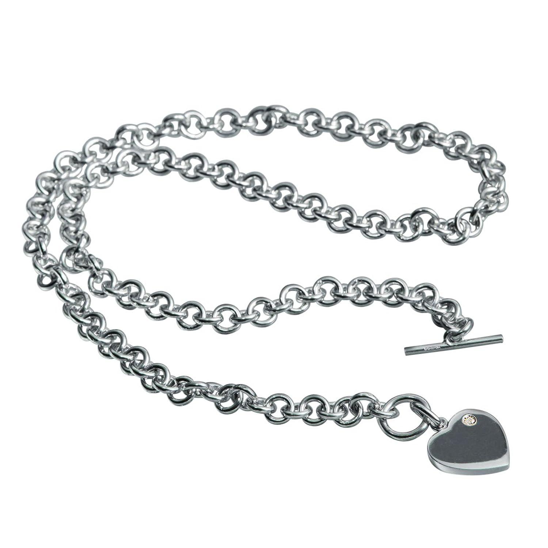 Hot Diamonds Lovelocked Silver and Diamond Necklace 40cm: Hot Diamonds:  Amazon.co.uk: Jewellery