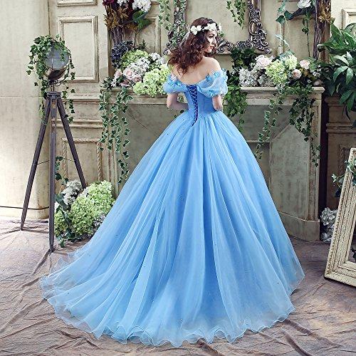 Cinderella Bleu Des Femmes Cezom 15 Robes De Bal Quinceanera Robes De Bal Bleu