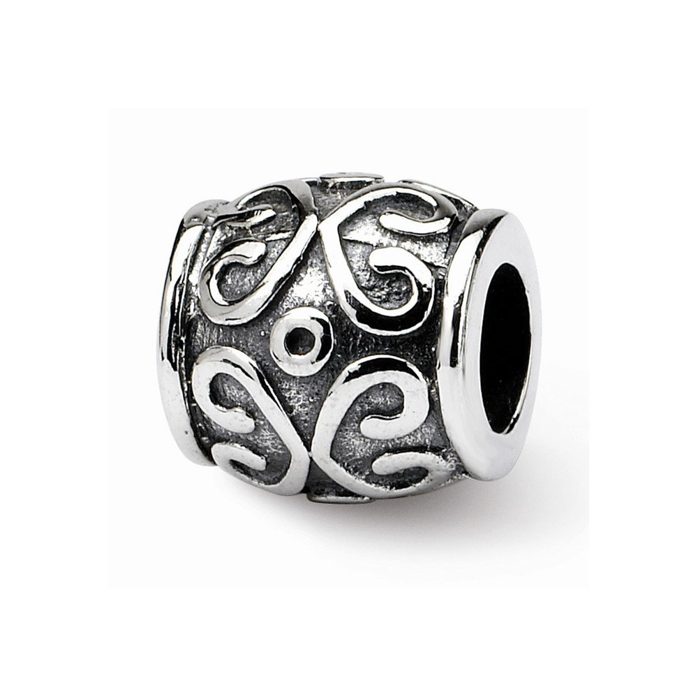 Goldia Sterling Silver Reflections Scroll Bali Bead