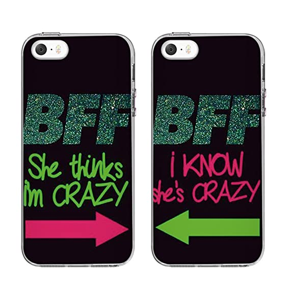 online store e481b 99c14 TTOTT Personalized Case For iPhone 5S/SE TPU Silicone Protective Cases [  Bumper Rubber Cover ] [ Various Design for Choice ] BFF Best Friends  Forever ...