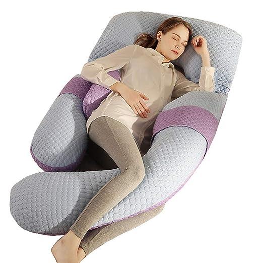 XiaoXIAO Embarazo Almohada almohada para dormir, apoyo Mujer ...