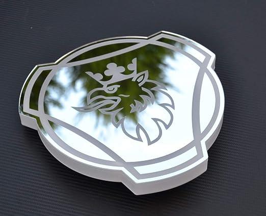 24 V Rgb Led Teller Silber Spiegel Schild 300 Mm Griffin Für Scania Lkw Laser Gravur Auto