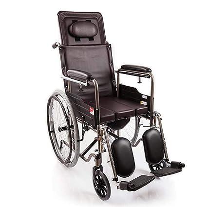 DPPAN Drive Medical Transport Silla de ruedas Plegado liviano, reposapiés de elevación de tubo de