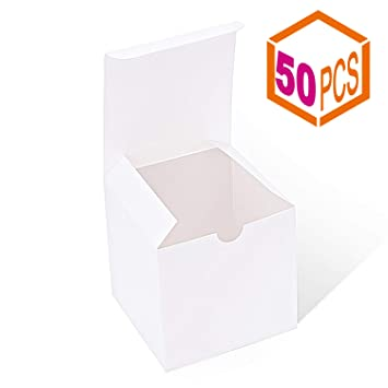Mesha Gift Boxes 4x4x4 Inches Kraft Paper Gift Boxes With Lids For