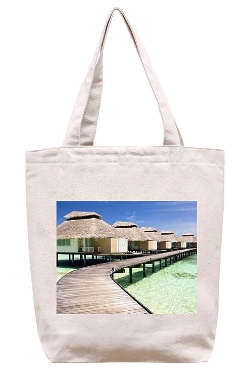 Diseño de casetas de playa algodón canvas tote Bag