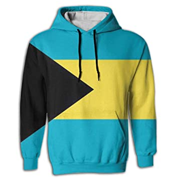 CHAN03 Unisex Realistic 3D Print Hoodie Hooded Sweatshirts Bahamas Flag