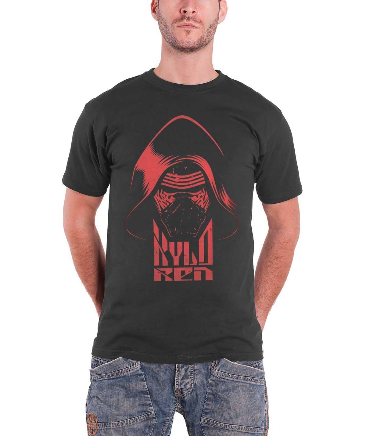 T Shirt Force Awakens Kylo Ren Head S Grey 2152