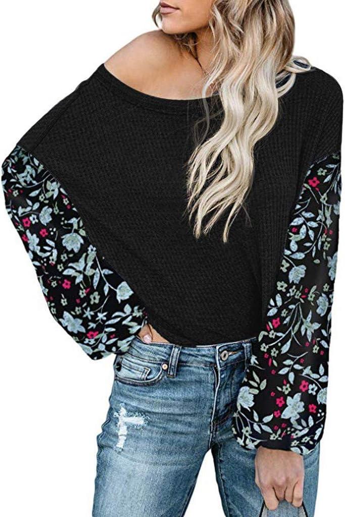 FVETFashion Chemise Femme Tee-Shirt Femme Casual Point Print Ruffles Button Ceinture /à Manches Longues Chemise Femme Tunique Femme Grande Taille