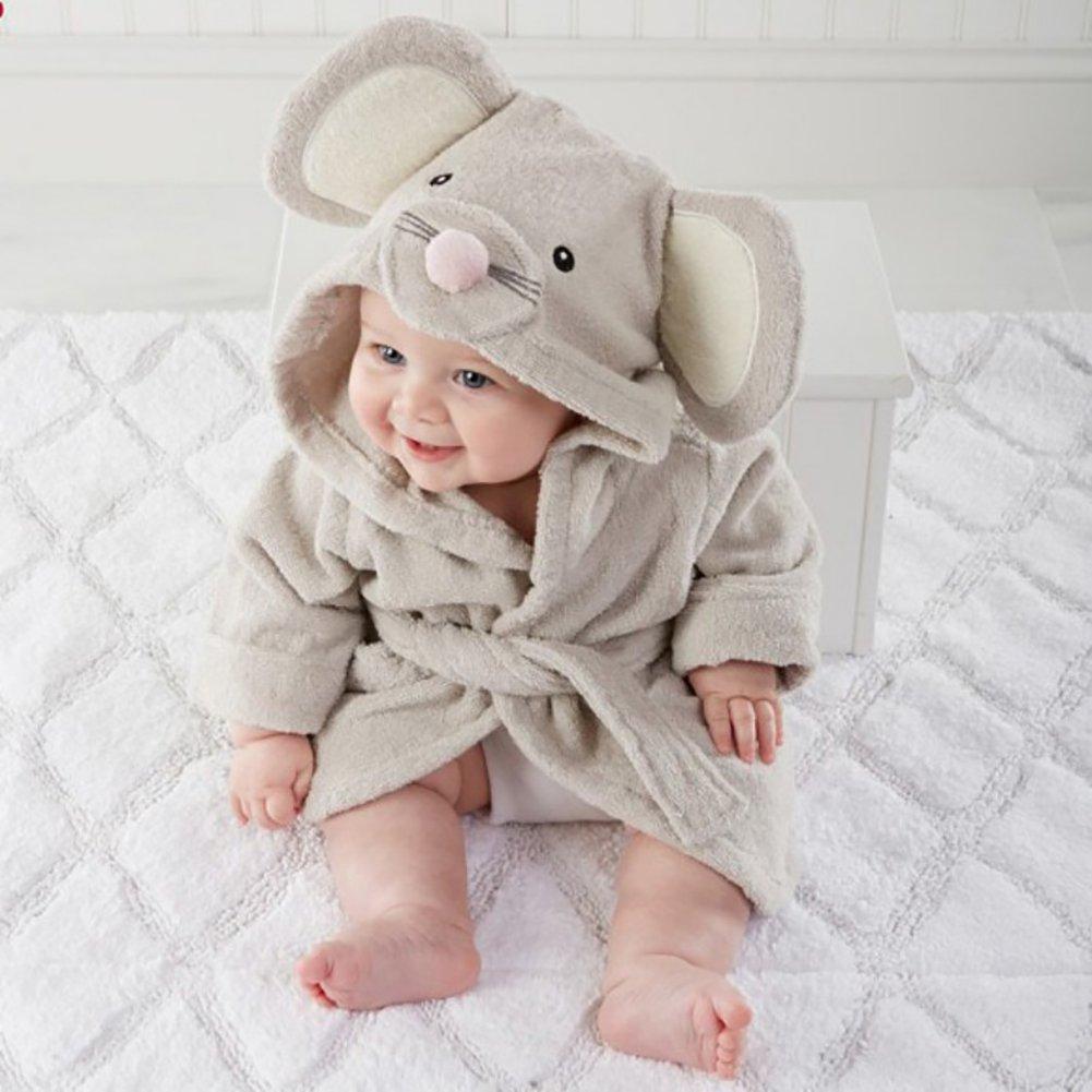 986a863c81365a ... Baby Bademantel mit Kapuze, Tiermuster weiche mit Kapuze größeres Bild