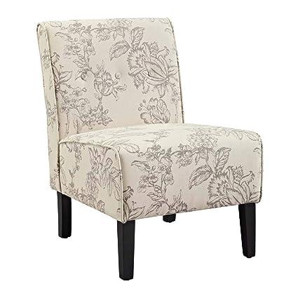 Amazing Amazon Com Linon Coco Toile Accent Chair In Gray And Black Machost Co Dining Chair Design Ideas Machostcouk