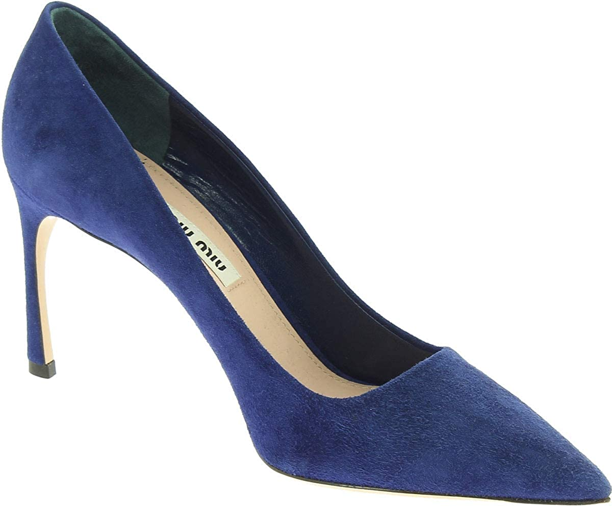 a5a5dd52fd85a bluee MIU Women's Suede Leather Pumps Heels shoes MIU - nqpuxv6144 ...