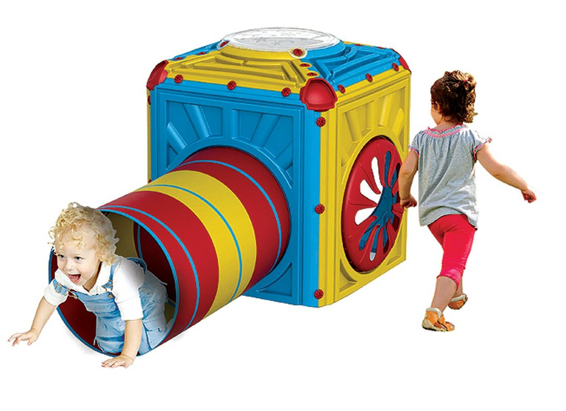 Spielhaus Cube Würfel für Kleinkinder mit Krabbeltunnel erweiterbar