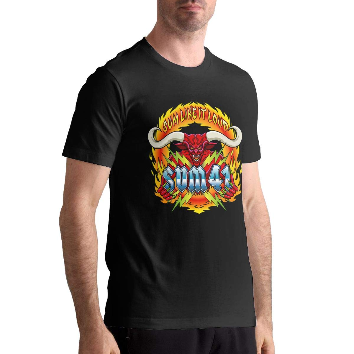 David E Everett Sum 41 Mens T Shirt Cotton Fashion Sports Casual Round Neck Short Sleeve Tees