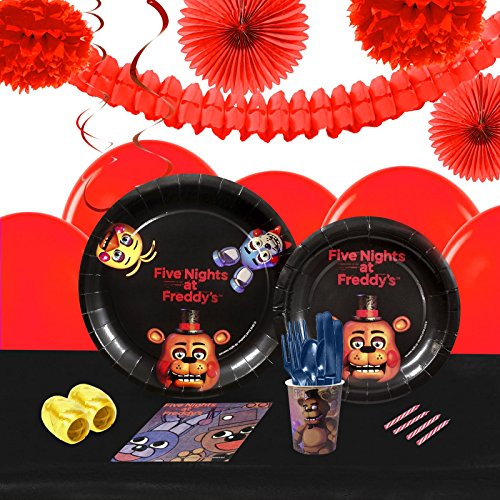Five Nights At Freddy's 2 Foxy Costume (Five Nights at Freddy's Party Supplies - Tableware and Decoration Party Pack for 16 Guests)