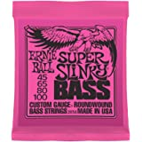 Ernie Ball 2834 Super-Slinky Electric Bass Guitar Strings (45 - 100)