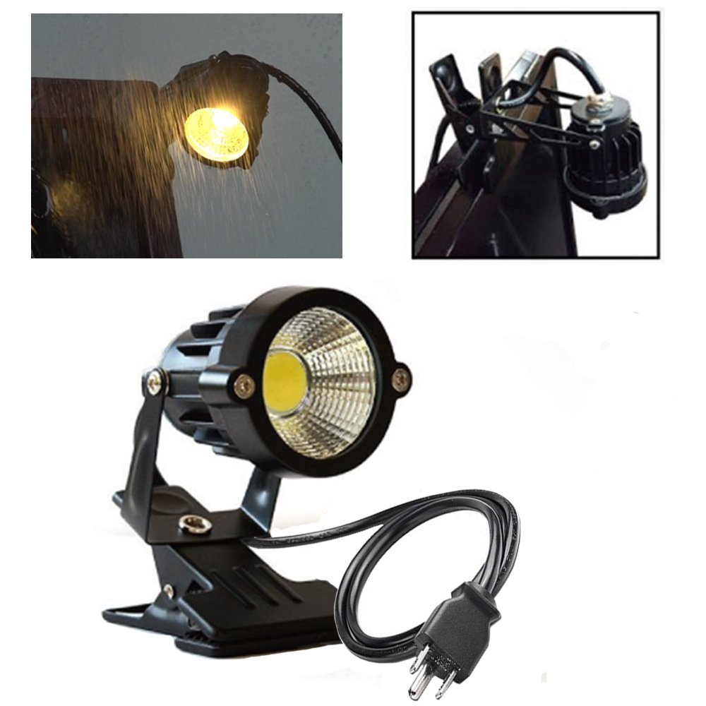 Onerbuy 1 pcs LED Clip on Light Outdoor Water Resistant Signboard Blackboard Lighting Adjustable Desk Stand Arm Lamp with Power Plug by Onerbuy (Image #3)