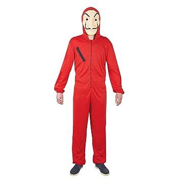 Generique Disfraz mono rojo ladrón adulto