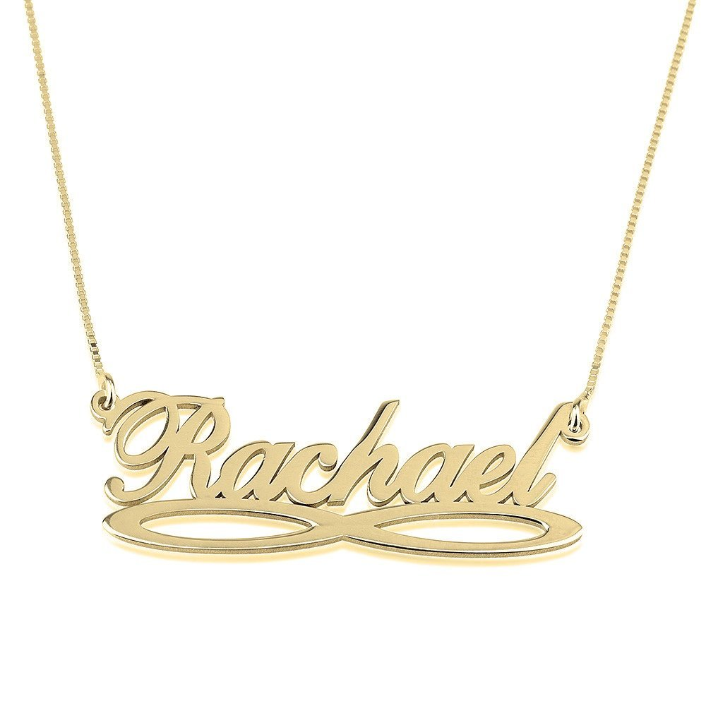 Infinity Underline Name Necklace Infinity Name Necklace