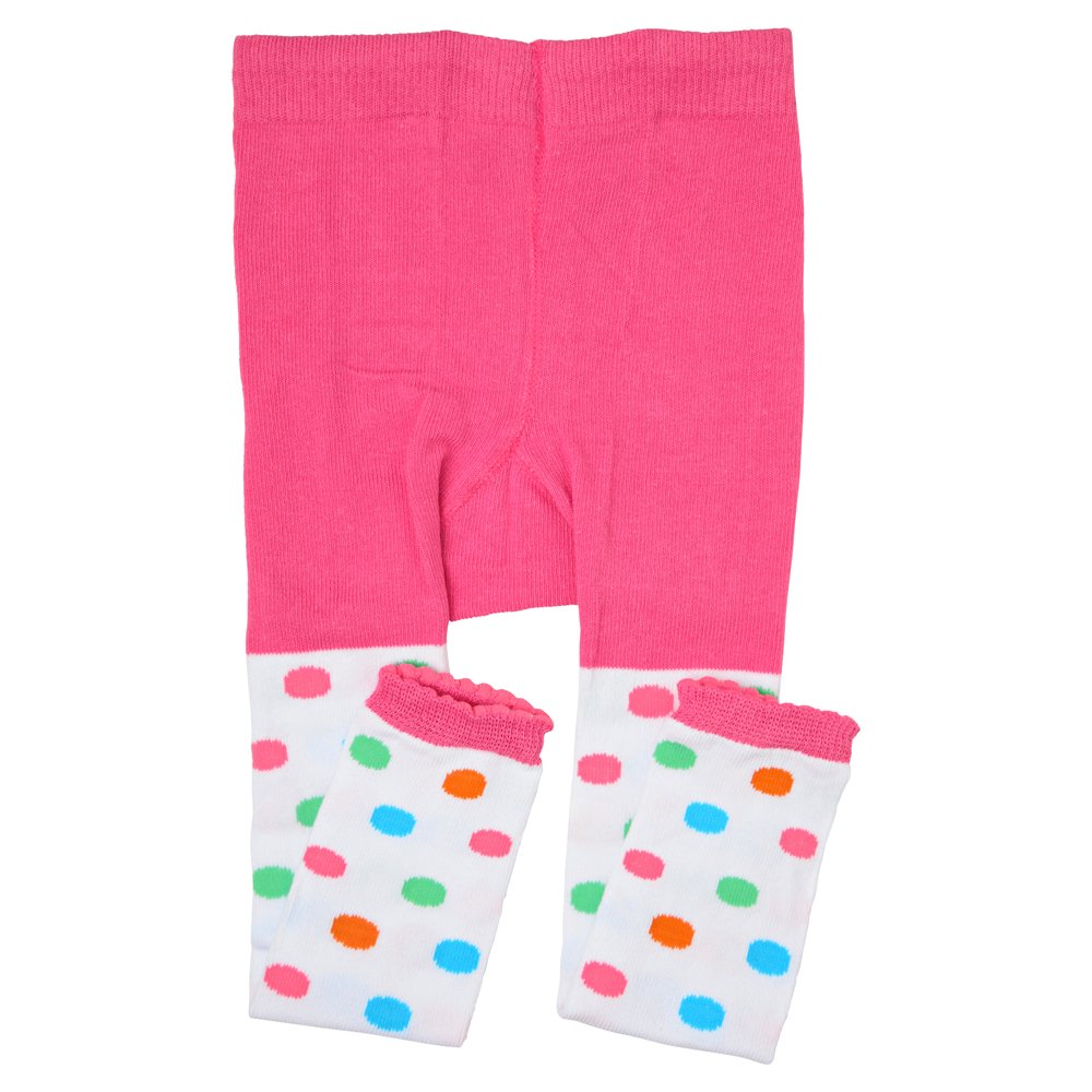 juDanzy toddler & girls footless tights (2-4 Years, Retro Polka Dot)
