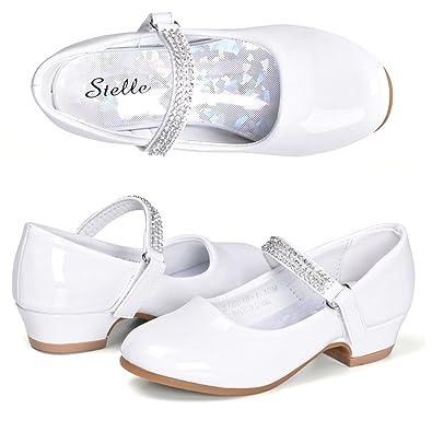 Amazon.com: STELLE Mary Jane - Zapatos de tacón bajo para ...