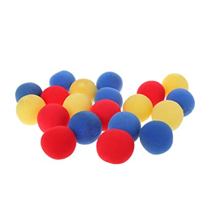 Fmingd 20PCS 4.5cmFinger Magic Tricks Props Sponge Balls Street Classical Stage Tricks: Toys & Games