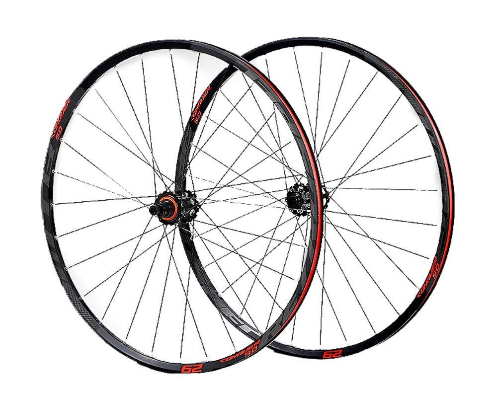 MTBホイールセットマウンテンバイクCNCベアリングディスクホイールリム29インチ SRAMフライホイールに最適  red B07RPN75Q8