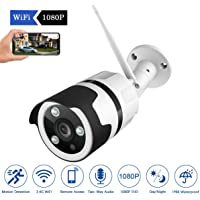 JOOAN 1080P WiFi Security Camera, 2MP HD Wireless IP Home Surveillance Camera System with Super Night Vision,Motion Detection,Two Way Audio for Indoor Outdoor Bullet Camera