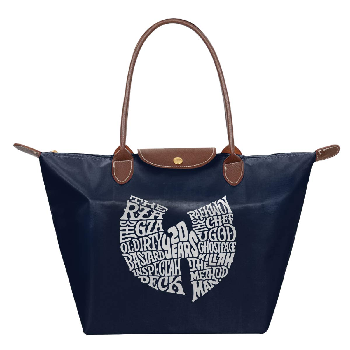 WU Tang Clan 20 Years Anniversary ODB Brooklyn Zoo Hip Hop Legends 90s 36 Chambers Music Waterproof Leather Folded Messenger Nylon Bag Travel Tote Hopping Folding School Handbags