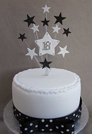 Karen\u0027s Cake Toppers Décoration de gâteau d\u0027anniversaire 18 ans Pour petit  gâteau ou cupcake