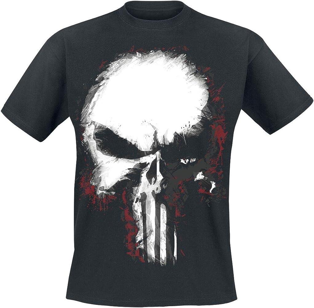 The Punisher Shattered Skull Hombre Camiseta Negro S, 100% algodón, Regular: Amazon.es: Ropa y accesorios