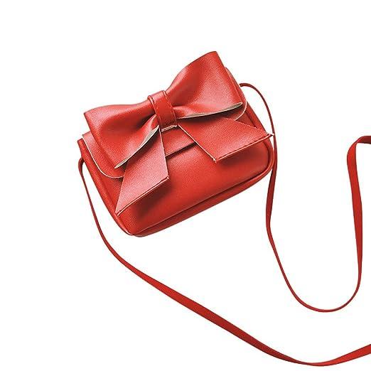 087f43a92eb2 Handbag Shoulder Bag,Rakkiss Girls Cute Bowknotl Children Leather Mini  Crossbody Bag Travel Coin Bag Tote Purse