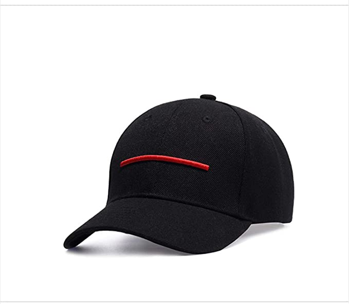 40c4de8629c Men s Personality Hip Hop Style One Red Stripes Black Cotton Baseball Cap(one  Size