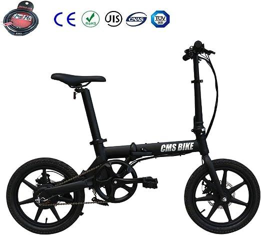 Plegable Bicicleta Eléctrica City Montaña Unisex Adulto 16 5V ...