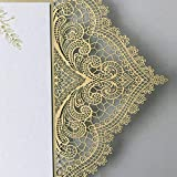 Picky Bride Gold Lace Wedding Invitations Suite