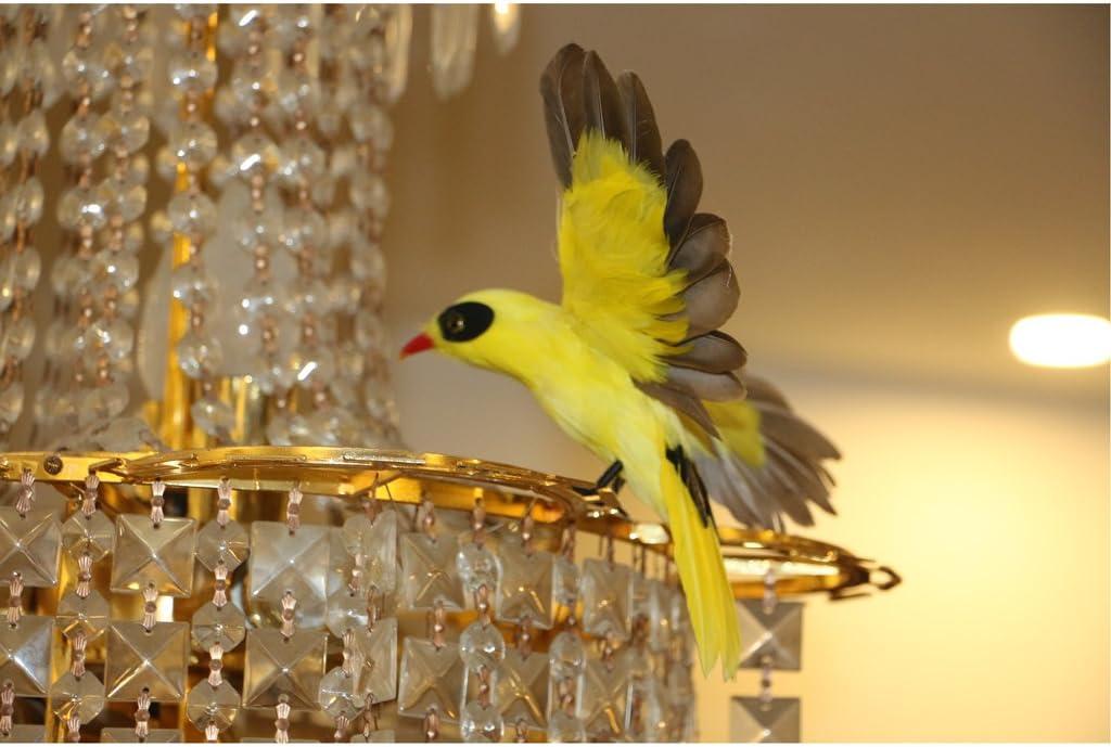 joyMerit Artificial Bird Realistic Parrot Goose Taxidermy Figurine Garden Decor Toy - Oriole Flying, as described