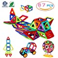 Magnetic Blocks, 3D Building Blocks Toys Set 87Pcs, Magnetic Tiles, Educational Toys for Baby/ Kids (ASTM and ROHS certification) from Manve