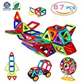 Image of Magnetic Blocks, 3D Building Blocks Toys Set 87Pcs, Magnetic Tiles, Educational Toys for Baby/ Kids (ASTM and ROHS certification)