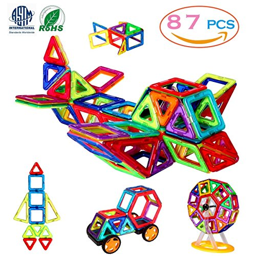 MANVE Magnetic Blocks Building Toys Set, Magnetic Tiles, Educational Toys for Baby/Kids( 87Pcs DELUXE SET)