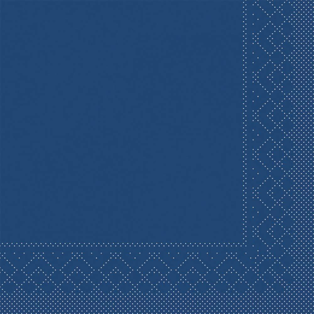 100 St/ück Mank Serviette aus Tissue /¼ Falz Blau-Gr/ün, 33 x 33 cm Natalie Premium Einweg-Serviette f/ür Gastronomie und Private Feiern